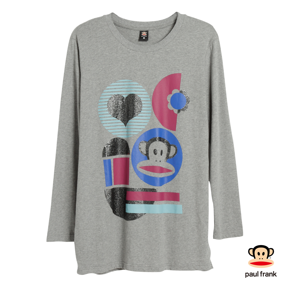 PAUL FRANK-幾何造型長袖T恤-麻灰(女)