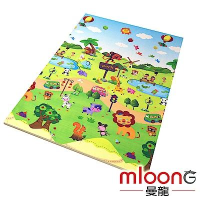 Mloong曼龍 XPE環保無毒巧拼地墊6片組 -森林樂園 (附邊條x10)
