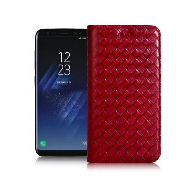 XM Samsung Galaxy S8+ 魔幻編織磁吸支架皮套