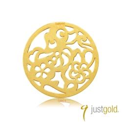 鎮金店Just Gold 金幣-花開富貴金幣(狗)