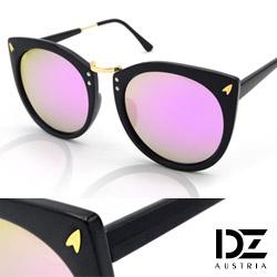 DZ 意象影矢 抗UV 偏光太陽眼鏡墨鏡(黑框紫粉膜)