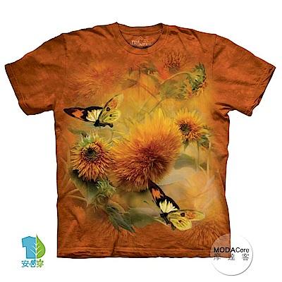 摩達客 美國進口The Mountain 蝴蝶與花 純棉環保短袖T恤