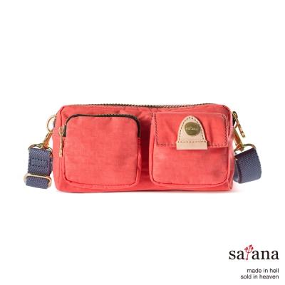 satana - 機能斜背包/手提包 - 珊瑚紅