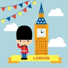 LOVIN 超萌韓版數字油畫 城市系列倫敦(7) 1幅