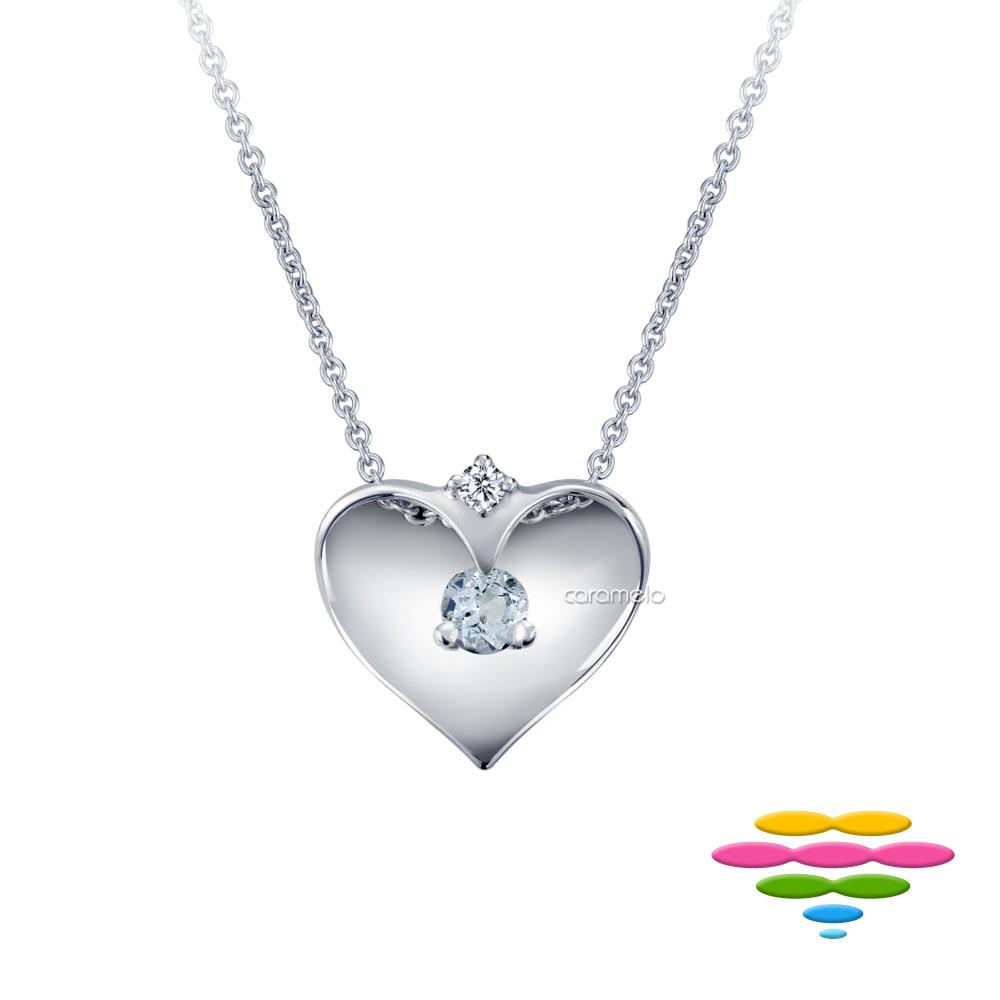 彩糖鑽工坊 鑽石項鍊&海藍寶項鍊 藍色序曲系列