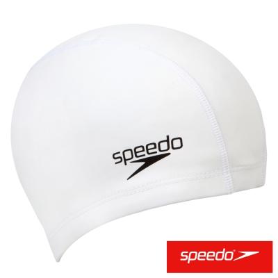 SPEEDO 成人 合成泳帽 Ultra Pace 白