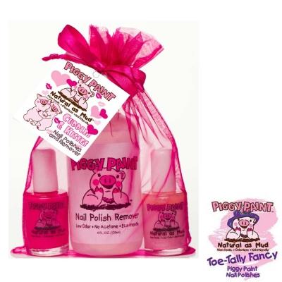 Piggy Paint 天然無毒兒童專用指甲油禮盒組-蜜糖甜心