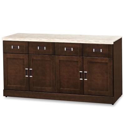 【ROSA羅莎】安諾爾胡桃5.3尺碗盤櫃下座