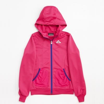 KAPPA義大利女吸濕排汗速乾針織外套~櫻桃紅