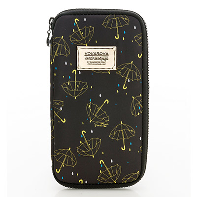 VOVAROVA空氣包-環遊世界護照夾-星光傘傘(黑)-法國設計系列