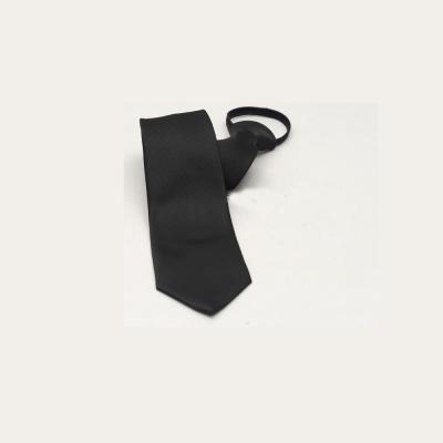 拉福   布面辦公領帶 8 cm寬版領帶拉鍊領帶 (黑)
