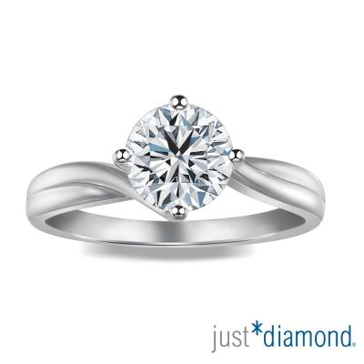 Just Diamond 完美情挑系列 GIA 0.3克拉 18K金鑽石戒指