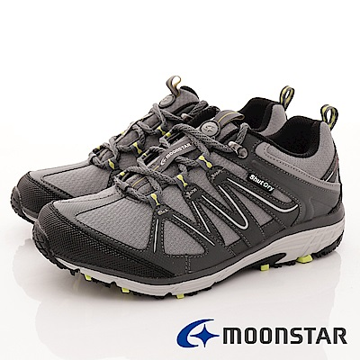 日本Moonstar戶外健走鞋-銀離子4E寬楦款-DM017灰(男段)