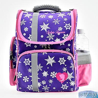 冰雪奇緣 印花立體護脊書包 紫色