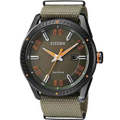CITIZEN 星辰 時尚商務腕錶(BM6998-11X)-綠色/42mm