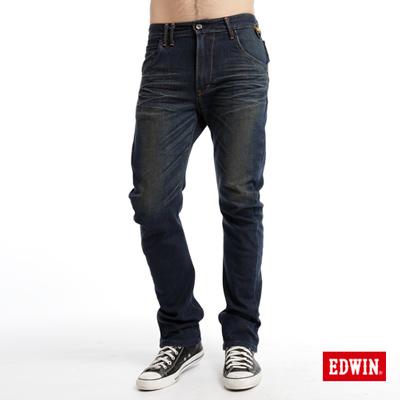EDWIN-大尺碼-E-F-ZERO伸縮中直筒牛仔褲-男款-中古藍