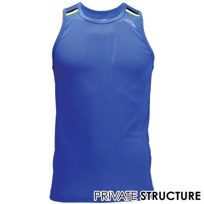 PS-365GYM網眼布快乾型健身路跑運動背心藍色
