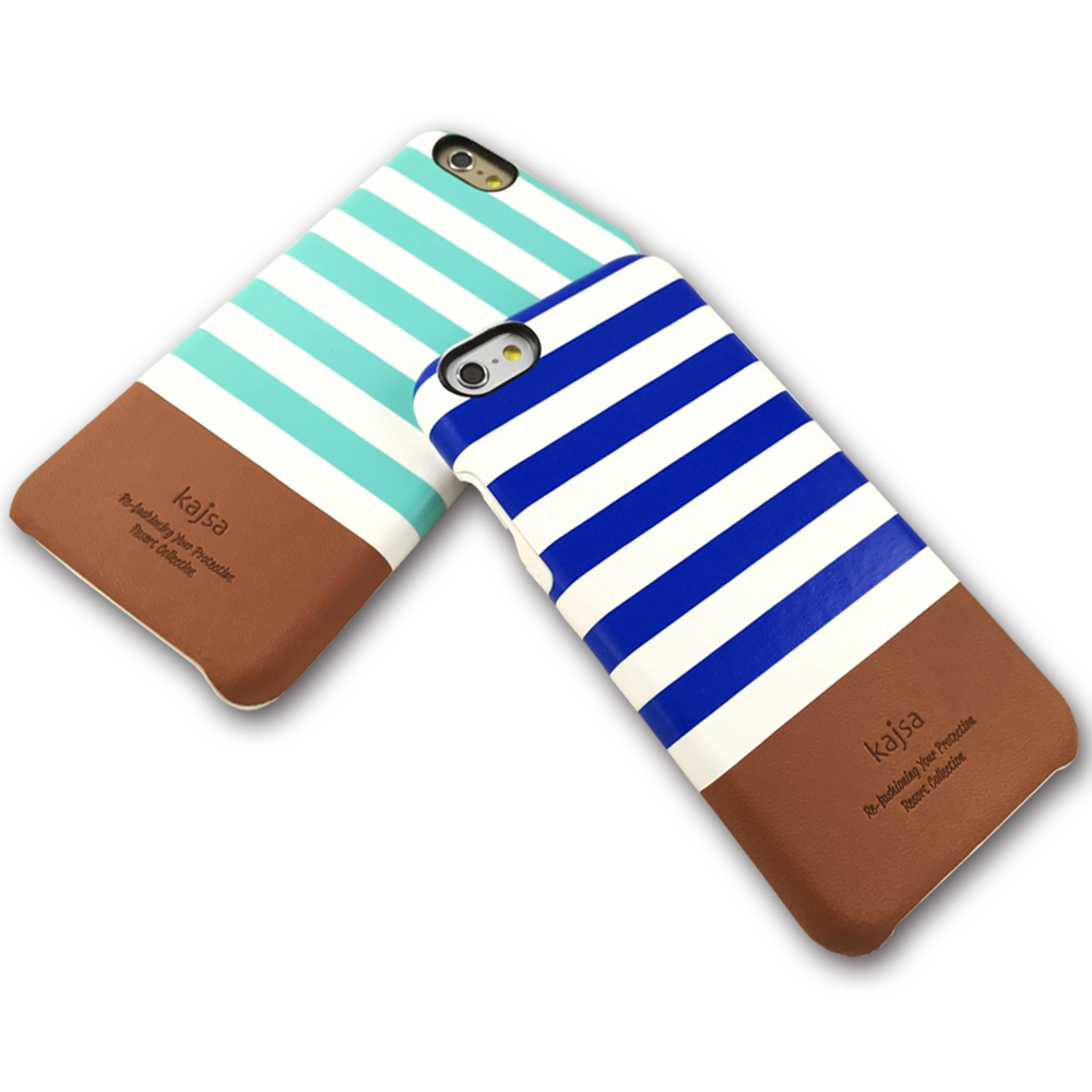 kajsa iphone 6 plus 5.5海軍風格條紋保護殼