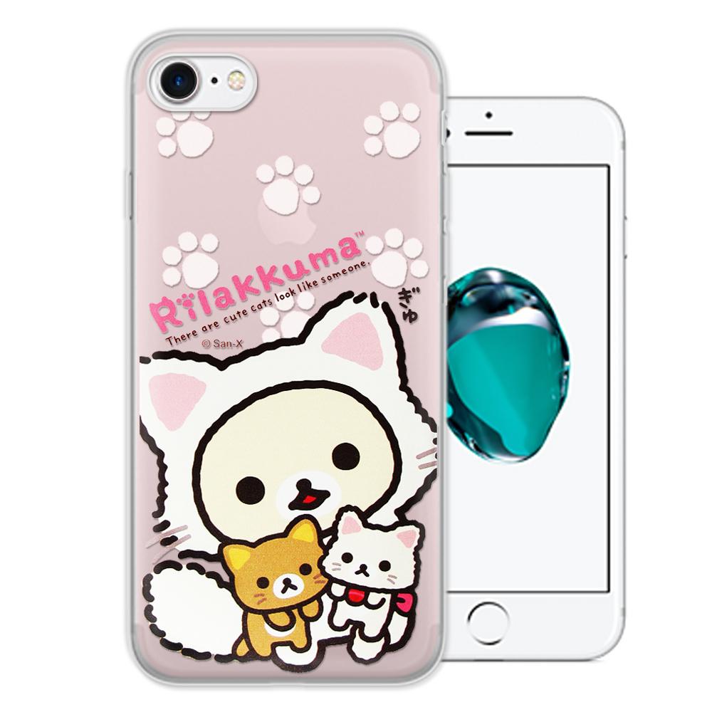 日本授權正版 拉拉熊 iPhone 8/iPhone 7 變裝系列彩繪手機殼(貓咪粉)