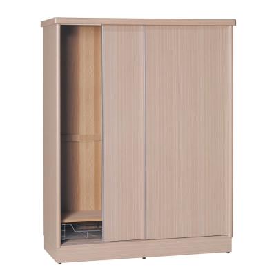 品家居 賈伯斯4尺雙推門衣櫃(五色可選)-120x60x192cm-免組