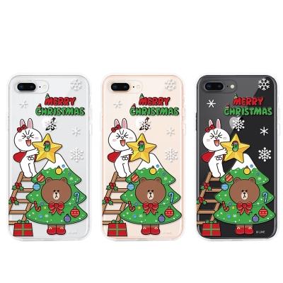 GARMMA LINE Friends iPhone 7/8浮雕軟式保護殼-耶誕快樂