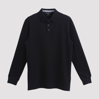 Hang Ten - 男裝 - 經典美式純色POLO衫 - 黑