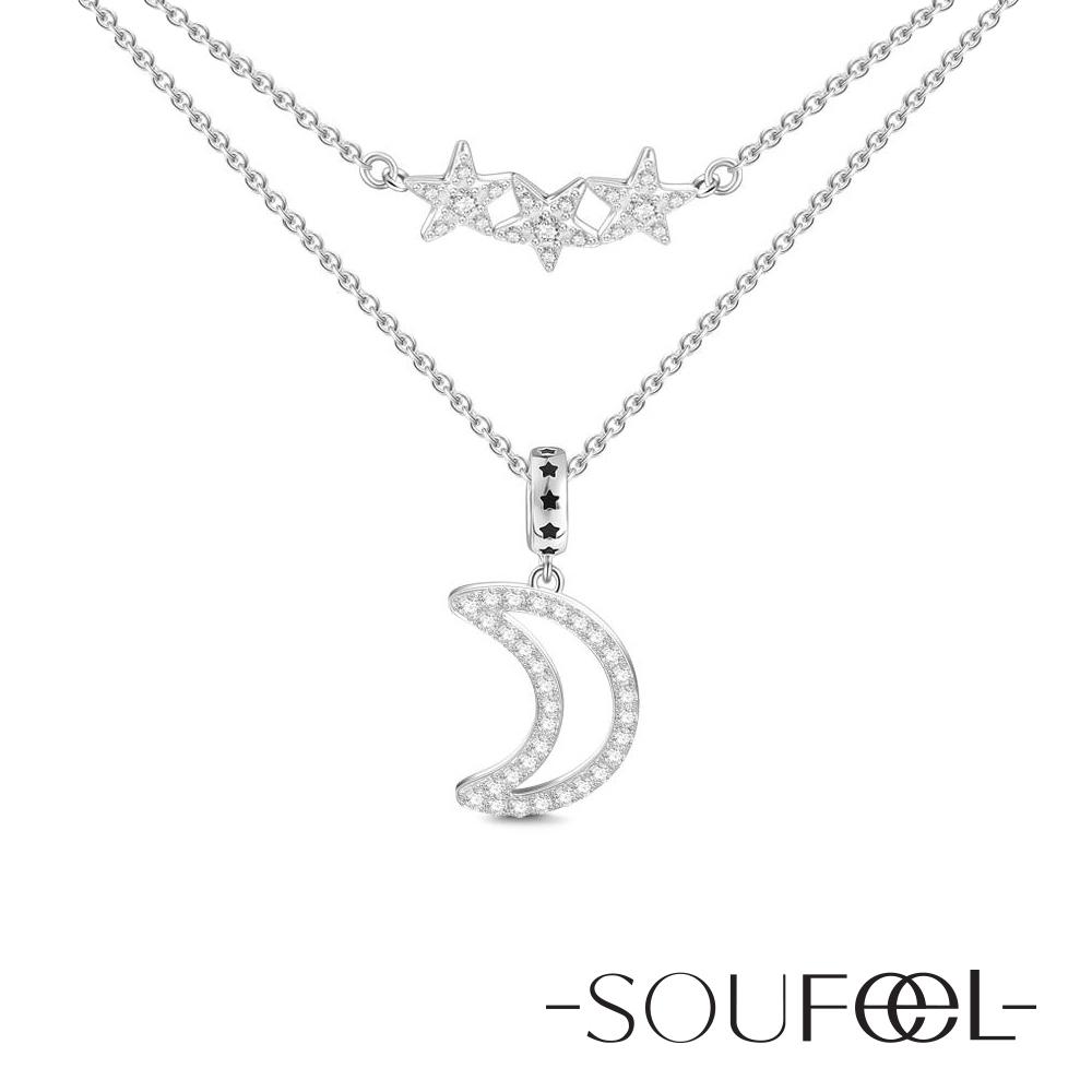 SOUFEEL索菲爾 925純銀項鍊 星月神話
