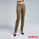BOBSON 女款熱感IN小直筒牛仔褲(卡其72)