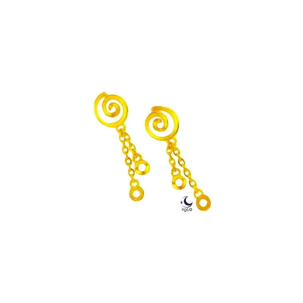 【HUGO】永結同心-純金耳環