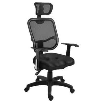 剛普朗克頭枕網背護脊挺腰電腦椅(二色)