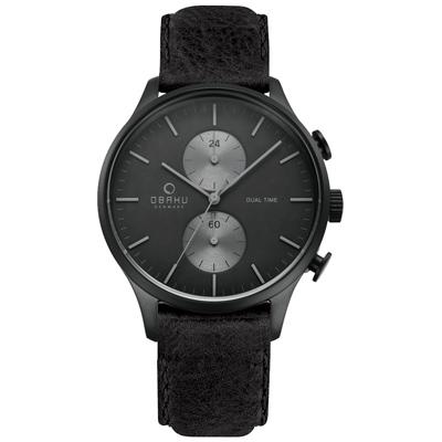 OBAKU 流轉光年雙時區腕錶-V196GUBBRB/42mm