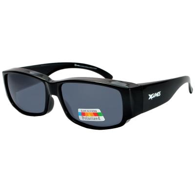 XGAMES護目套鏡-1082-C2 雙重防護偏光太陽眼鏡/護目鏡/防風鏡(小版/亮黑)