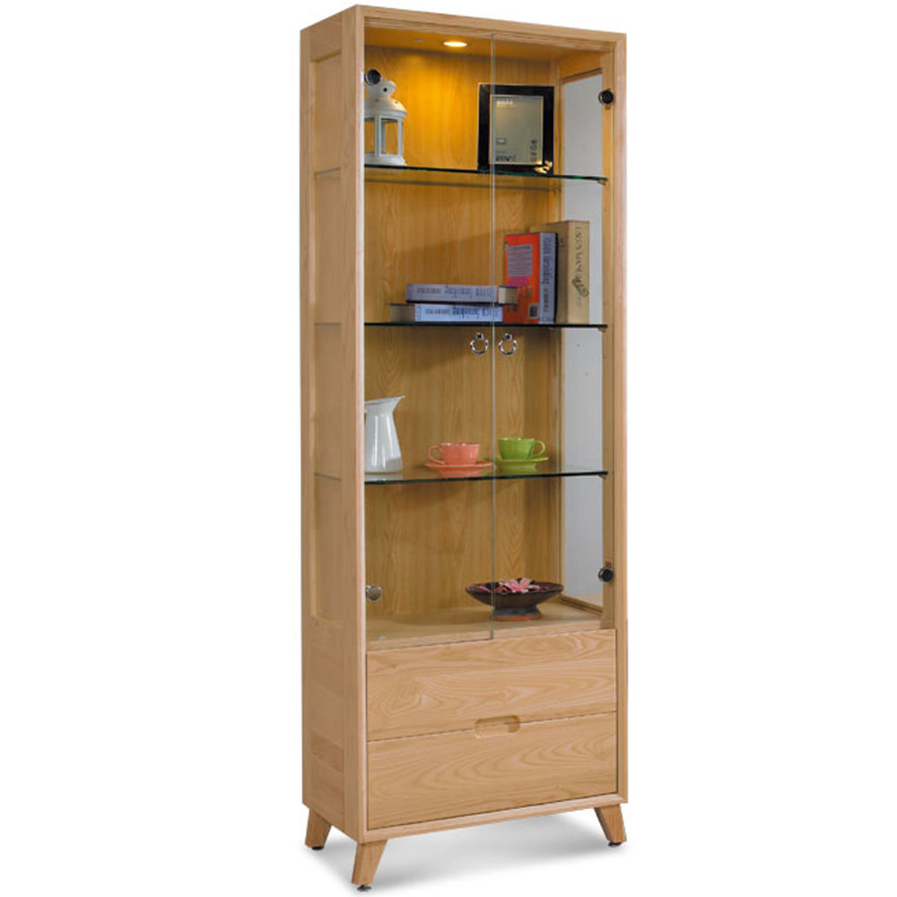 居家生活  黛絲芙2尺原木展示櫃