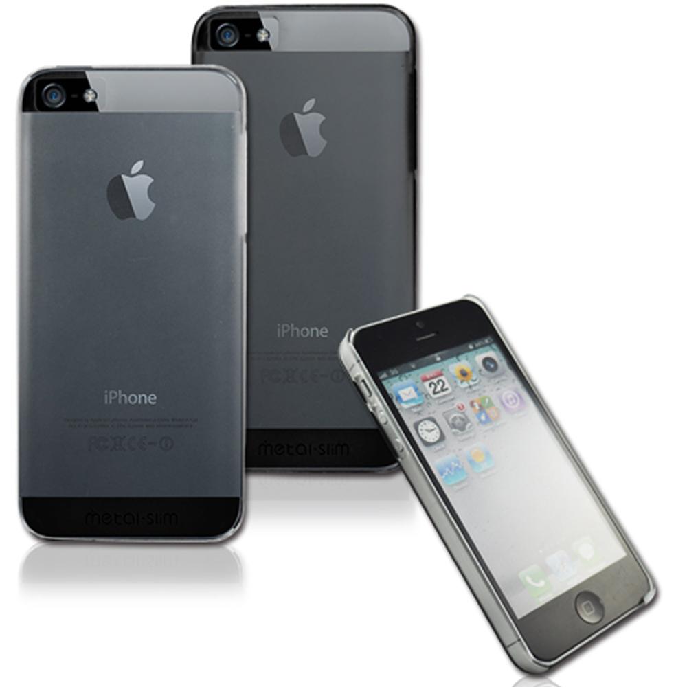 Metal-Slim Apple IPHONE 5/5S/SE 極薄羽翼高強度晶透磨砂手機手機殼