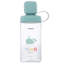 KOMAX糖果色水瓶430ml(水藍鯨)(8H)