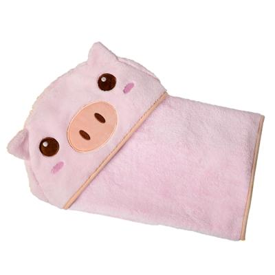 COTEX可愛動物大浴巾-品克豬(粉紅色)