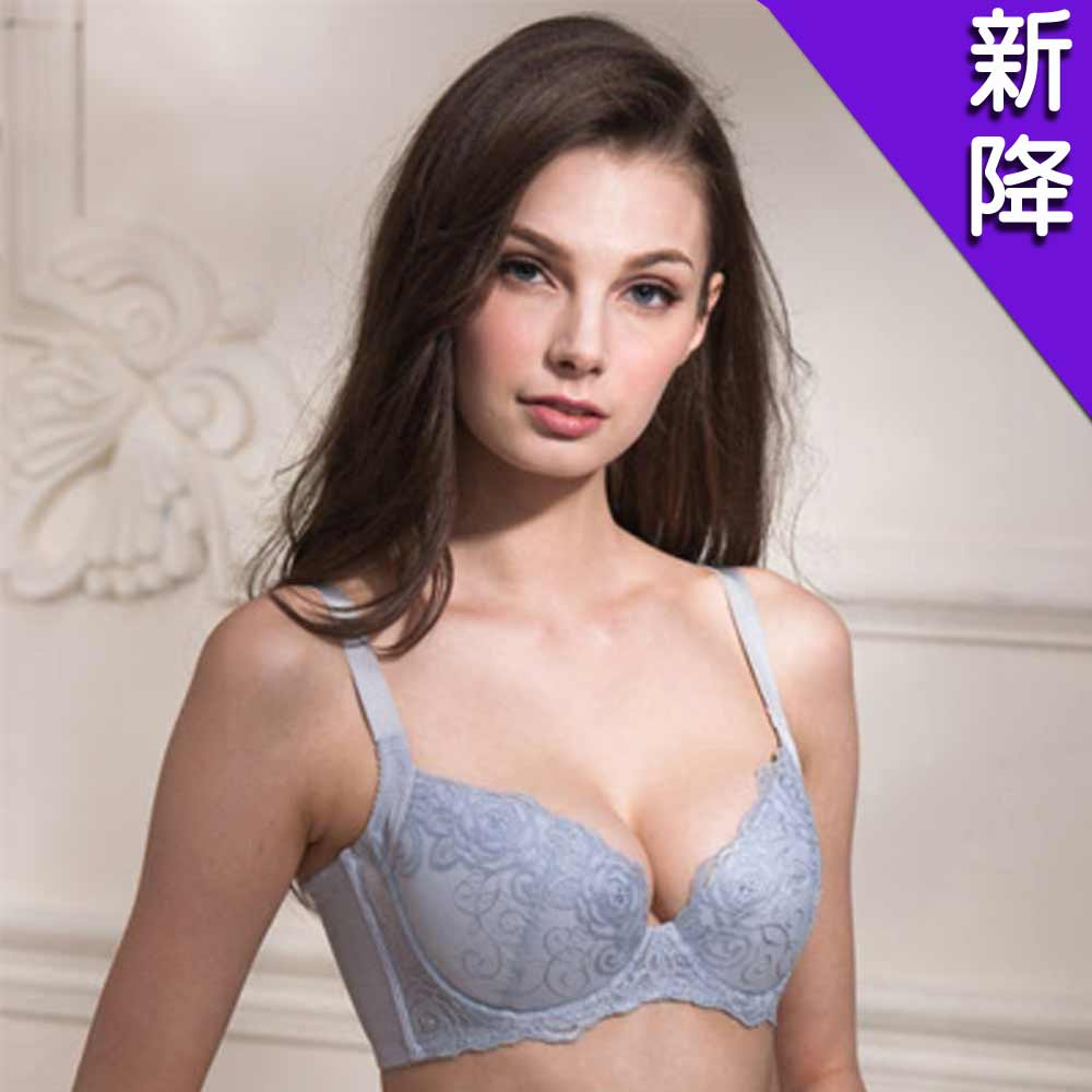 華歌爾 優雅輕柔系列B-D罩杯內衣(淺灰紫)