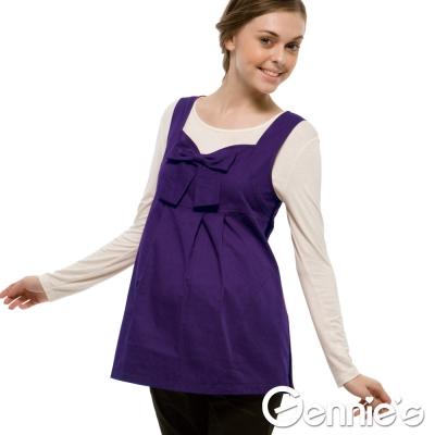 【Gennie's奇妮】防電磁波衣-甜美蝴蝶結背心款(靚紫)