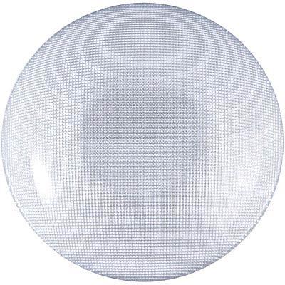 EXCELSA Diamond菱紋玻璃深餐盤(銀20cm)
