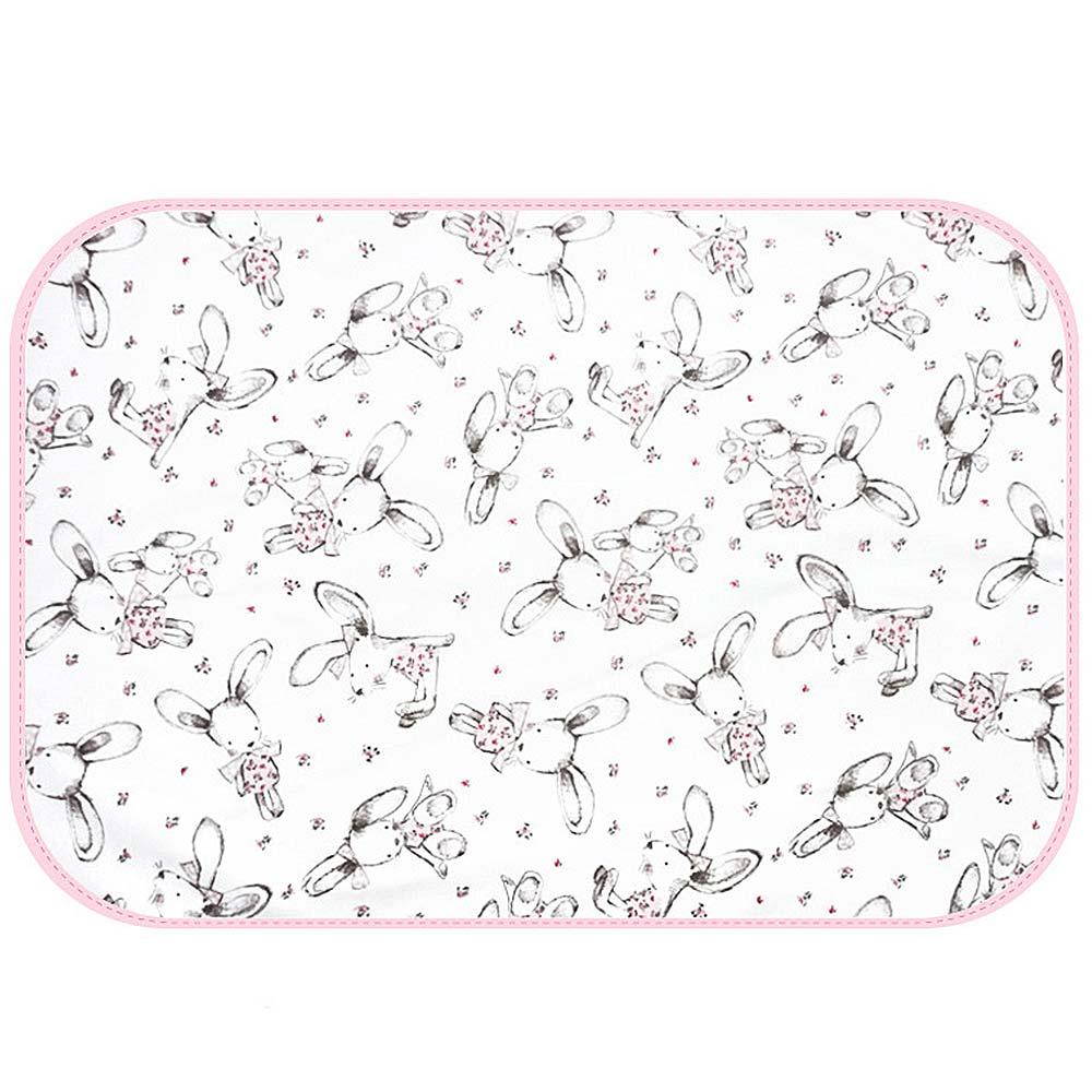 Baby unicorn粉紅兔子多功能防水隔尿墊野餐墊