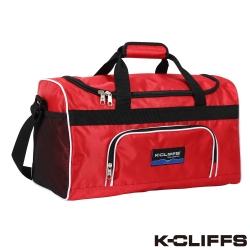 美國K-CLIFFS 出遊必備萬用旅行袋_紅