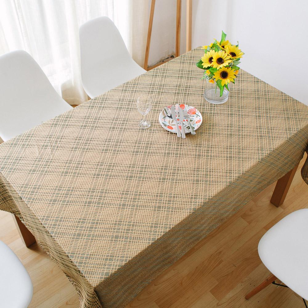 伊美居 - 蘇格蘭防潑水桌巾 140cmX140cm 1件(二色可選)