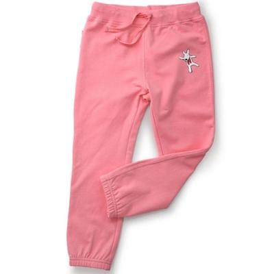 GL法國 優質萌系童趣粉紅色休閒抽繩長褲