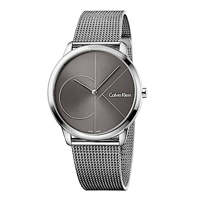 CK CALVIN KLEIN Minimal 系列cK Logo 錶盤米蘭帶手錶-40mm