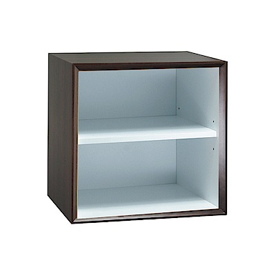 品家居 格吉1尺開放式二格收納櫃(三色可選)-30x30x30cm免組