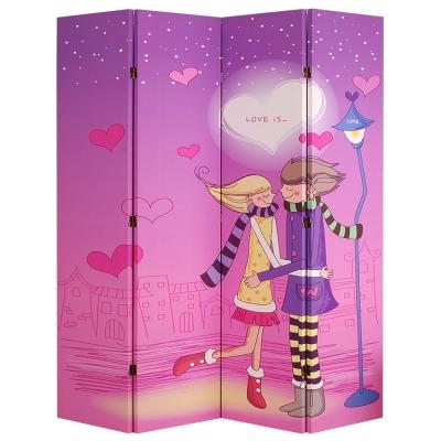 潮傢俬-戀戀風情四片式屏風 W160xD2.5xH180cm