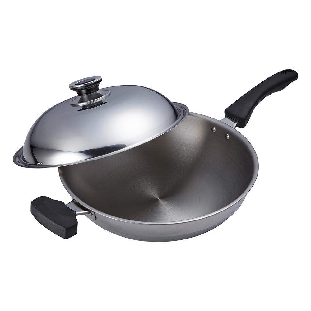 理想品味七層複合金炒鍋-單把(附側耳)-33cm