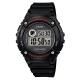 CASIO 元氣數位美學實用必備休閒錶-(W-216H-1A)黑x黑框/43mm product thumbnail 1