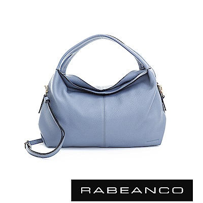RABEANCO  都會領袖系列弧形包身設計手提/肩背包 -船塢藍