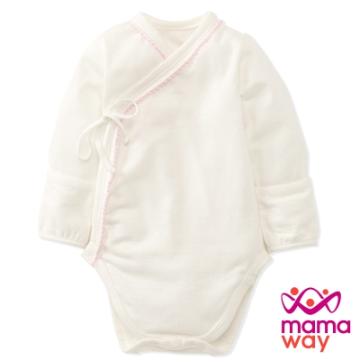 【Mamaway】新生兒內著包屁衣(粉紅)